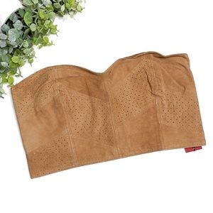 NWT Tigerlily Tan Leather Bandeau - Size 8
